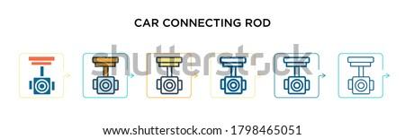 car connecting rod vector icon