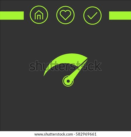 car counter vector icon. logo design. simple icons for web.