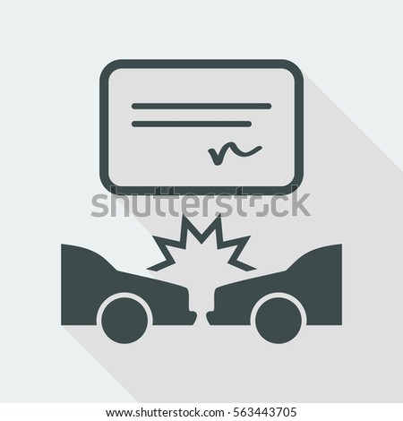 car crash document   vector
