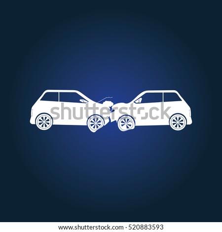car crash icon illustration