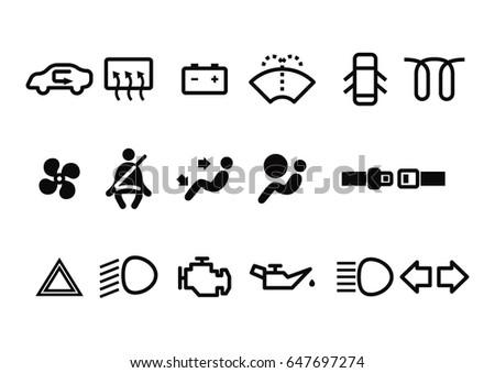 Free Car Dashboard Vector Symbols Download Free Vector Art Stock