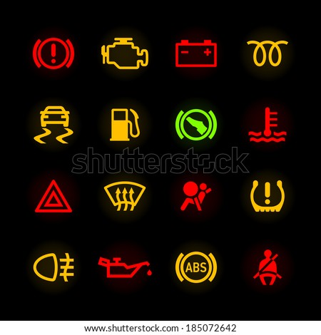 car dashboard icons vector
