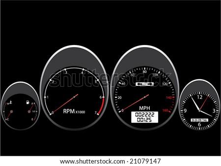 Car Dashboard man edition - stock vector