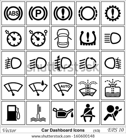 Car Dashboard Vector Icons Free Image 160600148