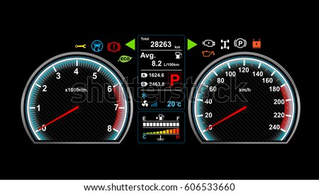 car dashboard vector
