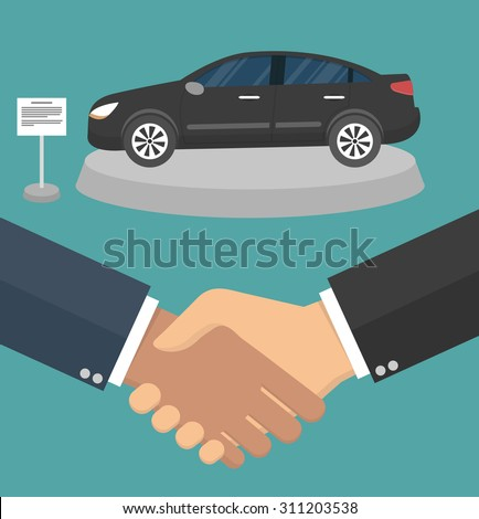 car dealer making a deal