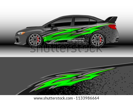 Car decal, truck and cargo van graphic vector, wrap vinyl sticker. Graphic abstract stripe designs for race and  drift livery car