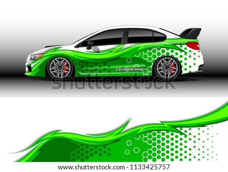 Car decal, truck and cargo van wrap vector. Graphic abstract stripe designs for drift livery car, advertisement and branding