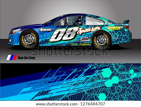 car decal vector design. abstract background for vehicle vinyl wrap
