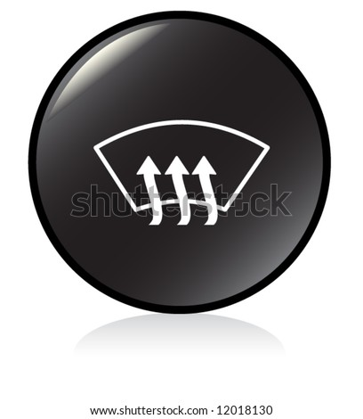 car defrost button symbol - black version