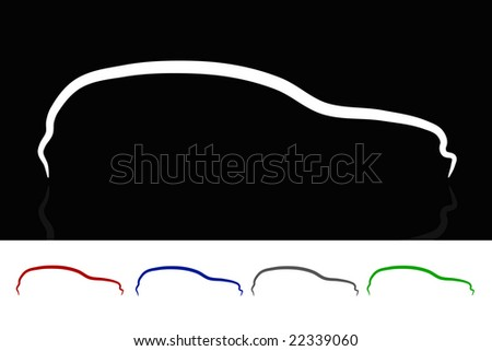 Car design in five colors