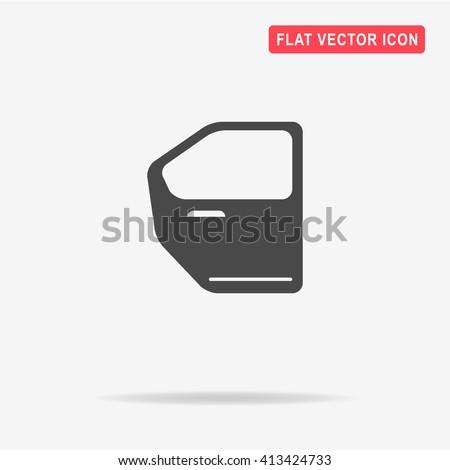 Car door icon. Vector concept illustration for design.