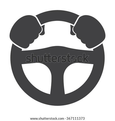 Car driver Icon Vector.