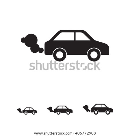 car emitting exhaust fumes