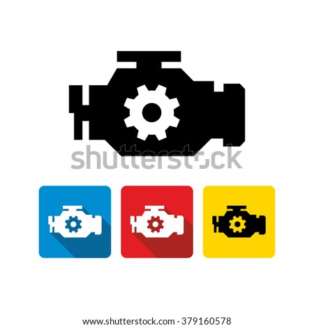 Car engine icon
