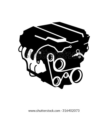 Car Engine Icons Vector - 316402073 : Shutterstock