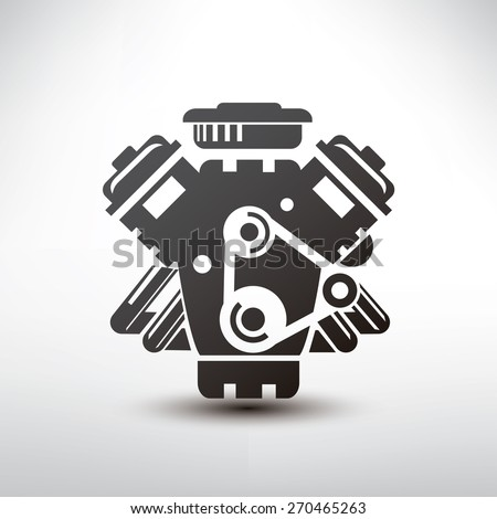 car engine symbol  stylized