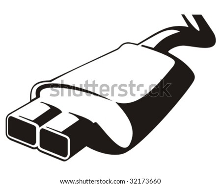 Car exhaust. Vector illustration.