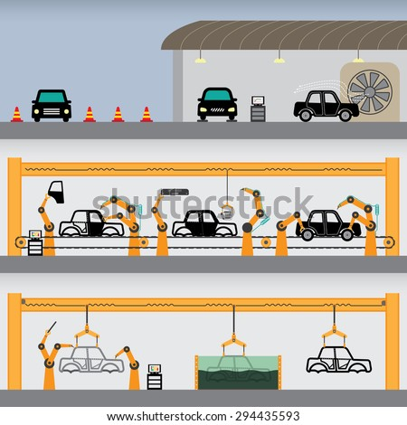car factory simple graphic