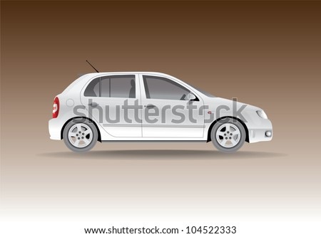 car from the side   illustration