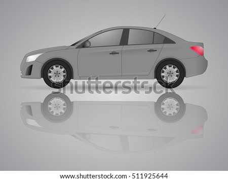 car from the side   realistic