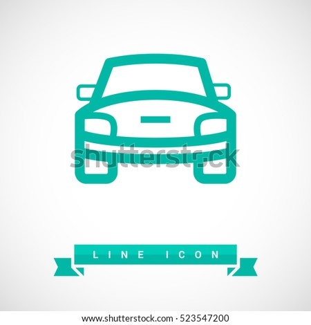 Stock Photo car front line icon for web and app