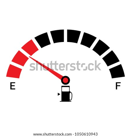 Car fuel gauge icon