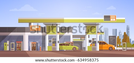 car fueling at gas petrol