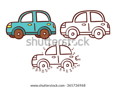 car game vector illustration