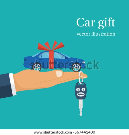 car gift concept man holding