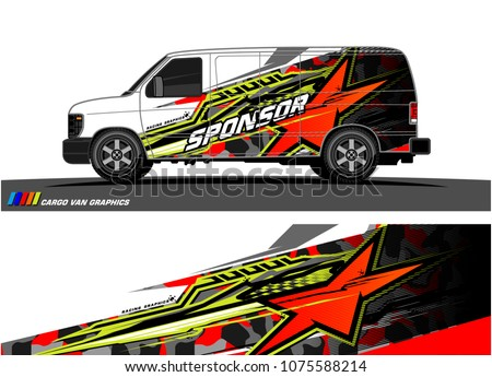 car graphic vector. abstract star shape with modern camouflage design for vehicle vinyl wrap