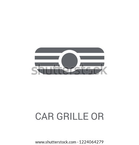 car grille or radiator grille icon. Trendy car grille or radiator grille logo concept on white background from car parts collection. Suitable for use on web apps, mobile apps and print media.