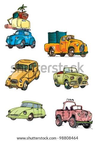 car group - cartoon