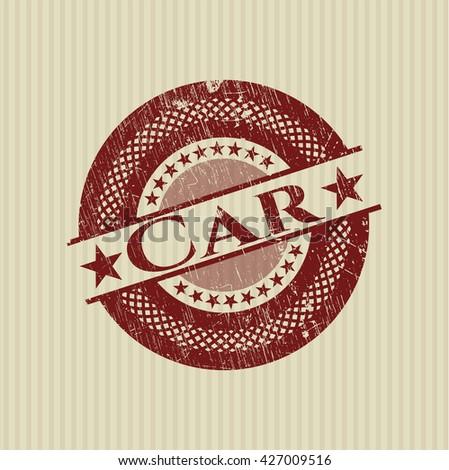 Car grunge style stamp
