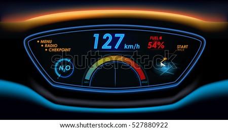 car hud dashboard futuristic