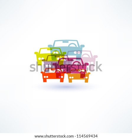 Car icon - stock vector