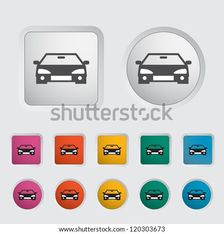 Car icon, black silhouette. Vector illustration EPS 8.