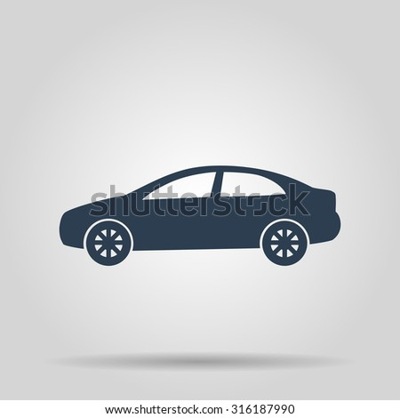 Car icon.car icon. Flat design style eps 10