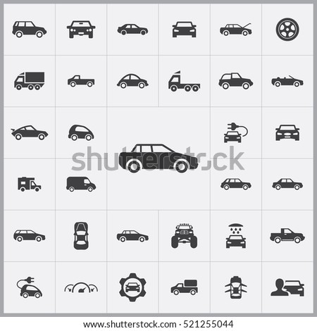 car icon. car icons universal set for web and mobile