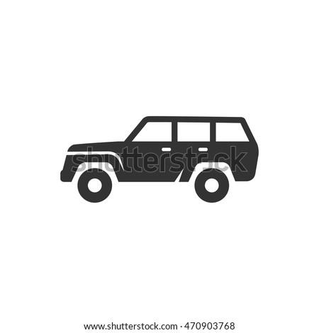 car icon in single color sport