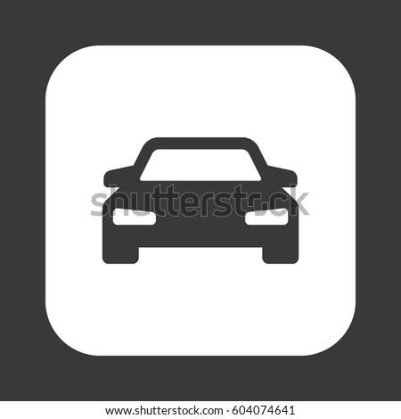 Car  icon,  isolated. Flat  design.