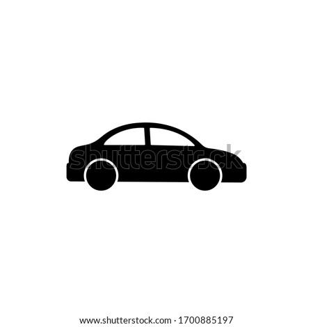 Car icon logo design black symbol isolated on white background. Vector EPS 10