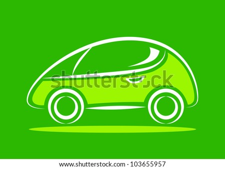 Car icon on green background