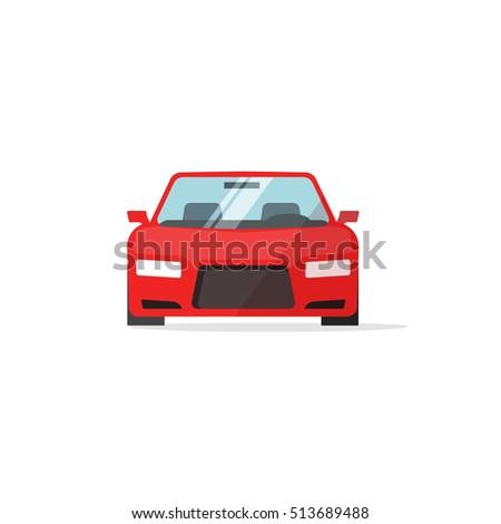 car icon red color vector