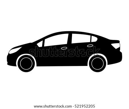 car icon. Small sedan.