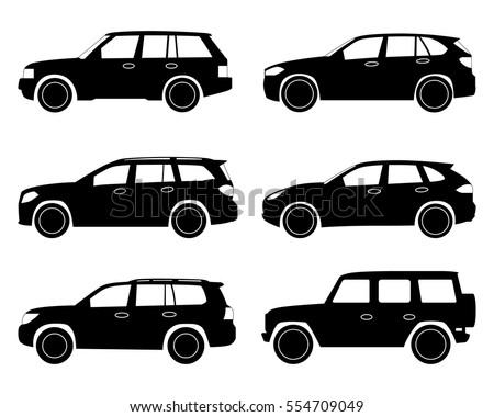 car icon. suv set.