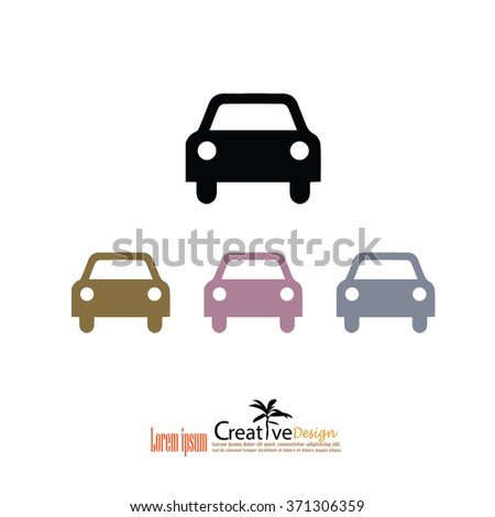Car icon. Transportation icon.Vector illustration.