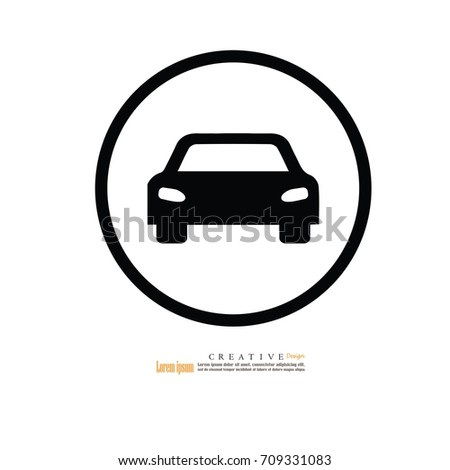 car icon.Transportation icon.Vector illustration.eps10.