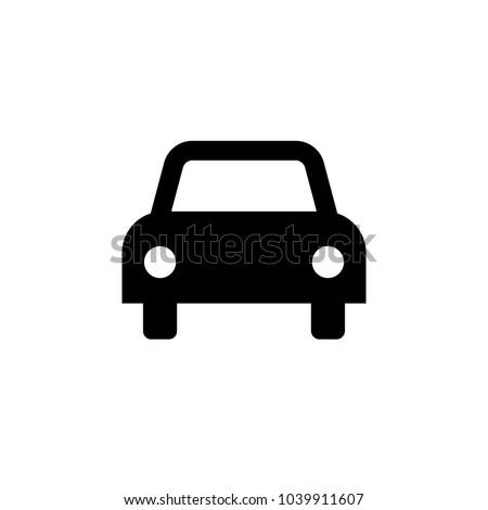 Car icon. Vector illustration. Flat design.