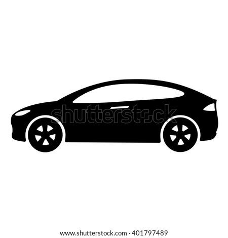 car icon vector illustration side view of car automobile. Black Bedroom Furniture Sets. Home Design Ideas